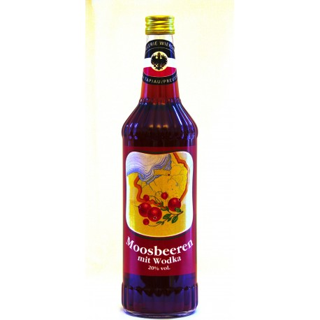 Moosbeere mit Wodka 20% Vol.